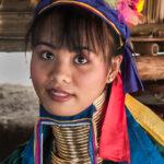 Long neck girl near Chiang Rai