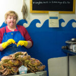 In the fish shop, Cornwall